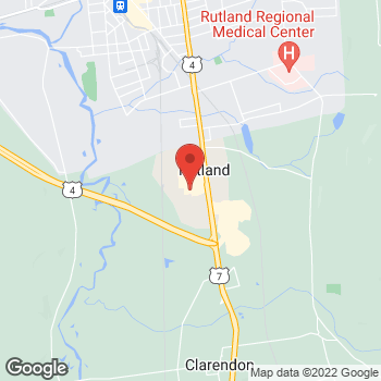 Map of Bed Bath & Beyond at 322 Route 7 South, Rutland, VT 05701