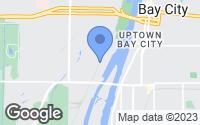 Map of Bay City, MI