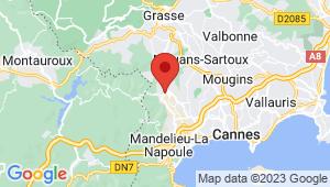 Carte de localisation du centre de contrôle technique PEGOMAS