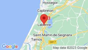 Carte de localisation du centre de contrôle technique LABENNE