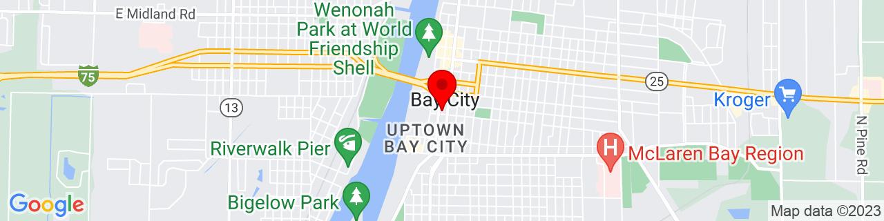 Google Map of 43.5934011, -83.8891569