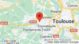 Carte de localisation du centre de contrôle technique TOURNEFEUILLE