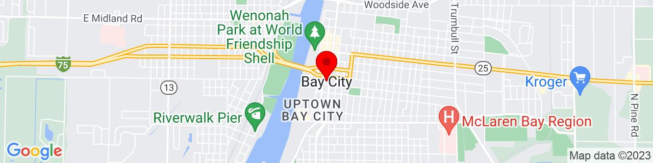 Google Map of 43.5944677, -83.8888648