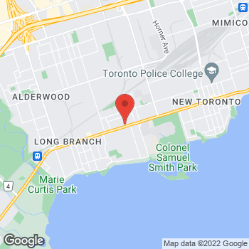 Map of Tim Hortons at 3316 Lakeshore Rd West, Etobicoke, ON M9W 1M9