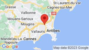 Carte de localisation du centre de contrôle technique ANTIBES