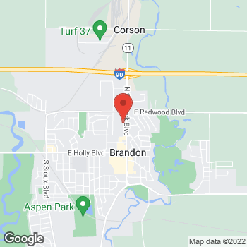 Map of Arby's at 501 North Split Rock Blvd, Brandon, SD 57005