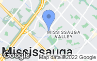 Map of Mississauga, ON