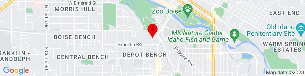 Google Map of 43.602353, -116.215432