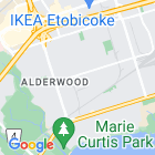 Etobicoke office map