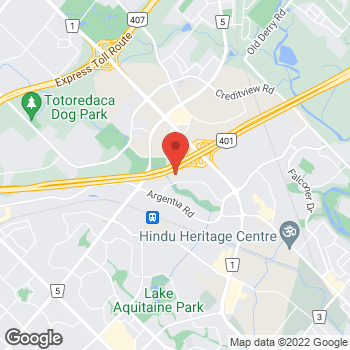 Map of Tim Hortons at 6925 Century Ave, Mississauga, ON L5N 7K2
