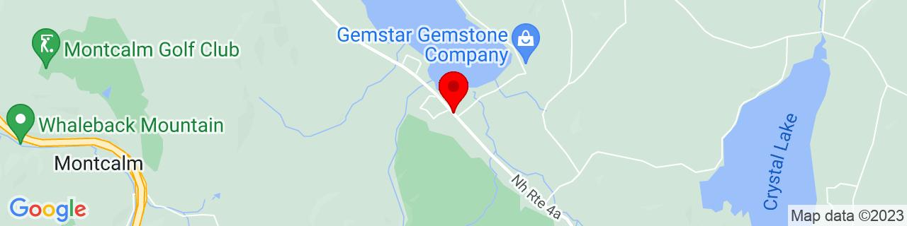 Google Map of 43.60434890000001, -72.1278099