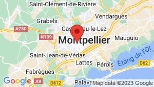 Carte de localisation du centre de contrôle technique MONTPELLIER