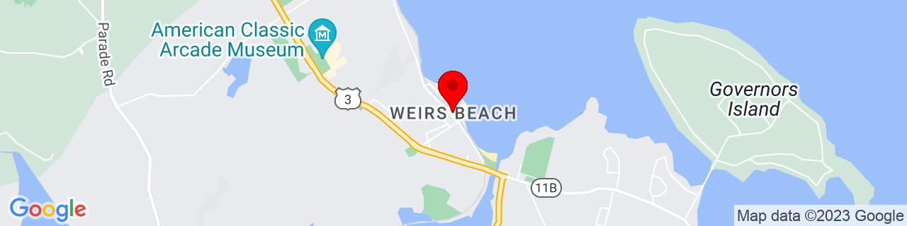 Google Map of 43.60896, -71.46063