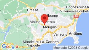 Carte de localisation du centre de contrôle technique Mougins