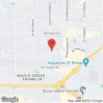 Map of Jared K Rowberry, DMD at 8950 W Emerald Street, Boise, ID 83704