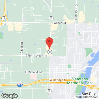Map of Arby's at 905 N Euclid Ave, Bay City, MI 48706