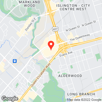 Map of Ann Taylor at 25 The West Mall, Etobicoke, ON M9C 1B8