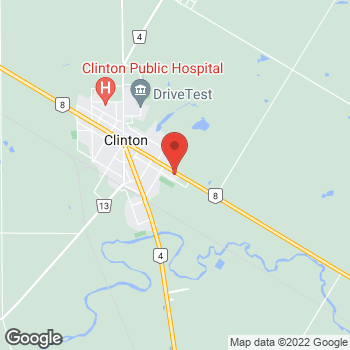 Map of Tim Hortons at 300 Ontario St, Clinton, ON N0M 1L0