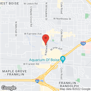 Map of Arby's at 989 N Milwaukee, Boise, ID 83704