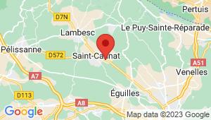 Carte de localisation du centre de contrôle technique SAINT CANNAT