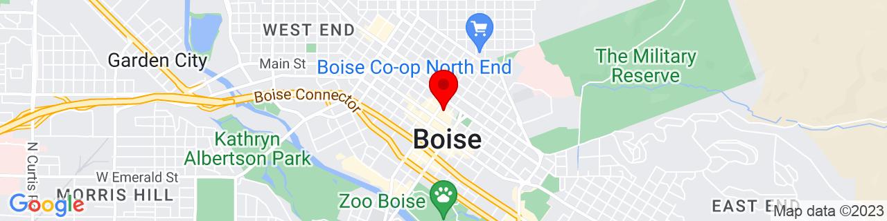Google Map of 43.6175153, -116.2027687