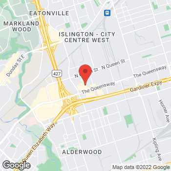 Map of Bed Bath & Beyond at 1602 The Queensway, Toronto, ON M8Z1V1