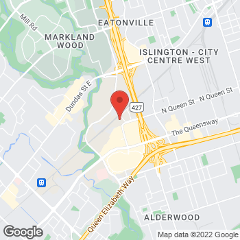 Map of DSW Designer Shoe Warehouse at 170 North Queen St., Etobicoke, ON M9C 1A7