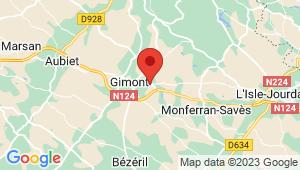 Carte de localisation du centre de contrôle technique GIMONT