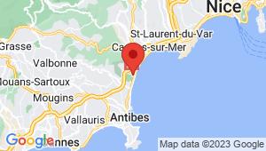 Carte de localisation du centre de contrôle technique VILLENEUVE LOUBET
