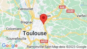 Carte de localisation du centre de contrôle technique TOULOUSE Roseraie / Gramont