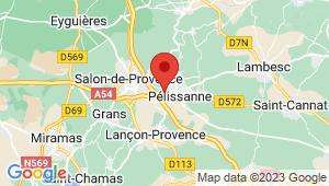 Carte de localisation du centre de contrôle technique PELISSANNE