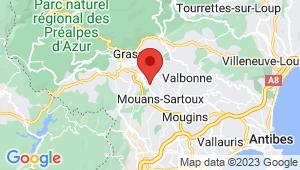 Carte de localisation du centre de contrôle technique GRASSE