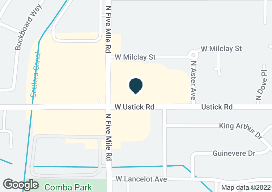 Google Map of10580 W USTICK RD