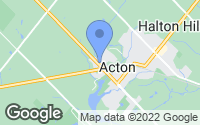 Map of Acton, ON