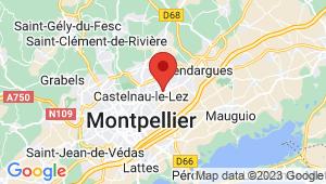 Carte de localisation du centre de contrôle technique Castelnau le Lez