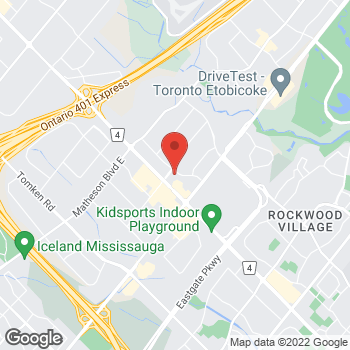 Map of Staples Dixie at 1530 Aimco Blvd., Mississauga, ON L4W 5K1