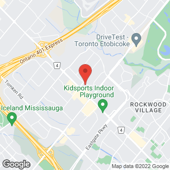 Map of Staples Print & Marketing Services at 1530 Aimco Blvd., Mississauga, ON L4W 5K1