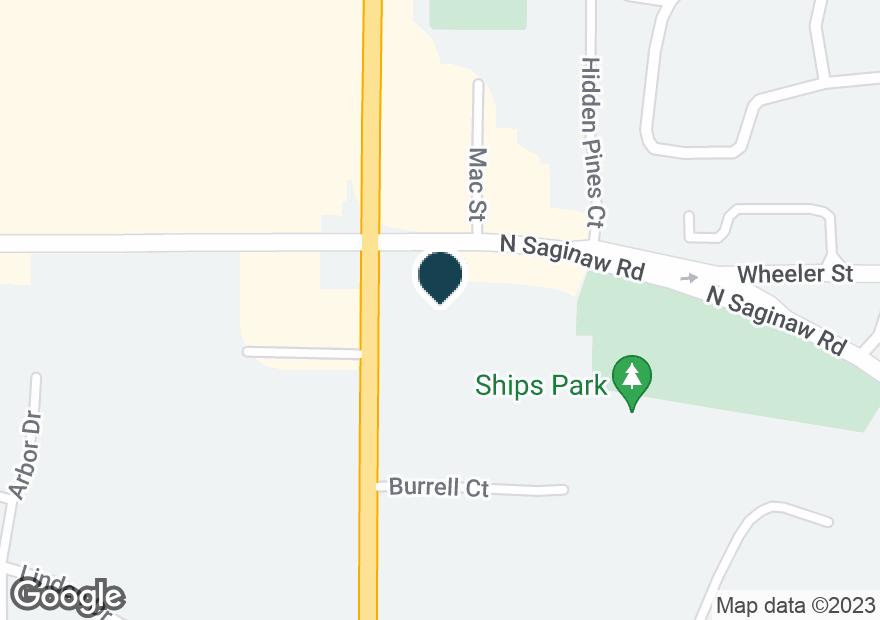 Google Map of1615 N SAGINAW RD