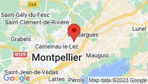 Carte de localisation du centre de contrôle technique LE CRES