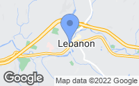 Map of Lebanon, NH