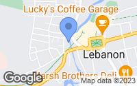 Map of Lebanon, NH