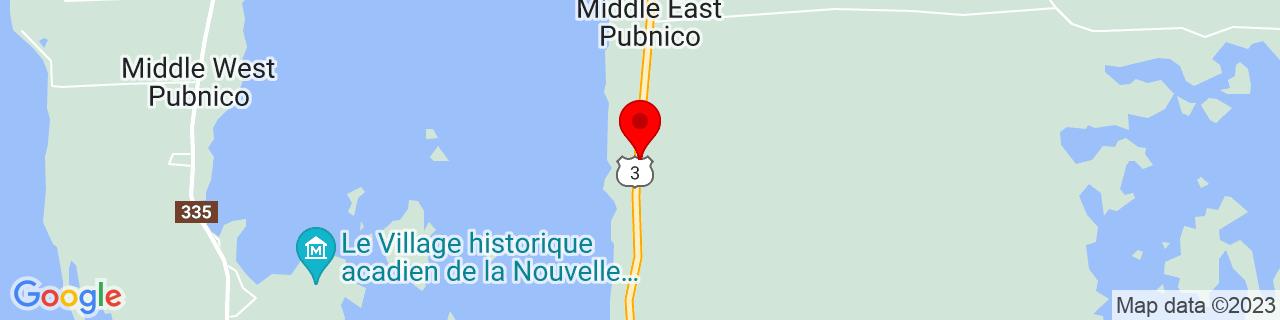 Google Map of 43.6443035, -65.7655385