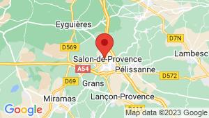 Carte de localisation du centre de contrôle technique SALON DE PROVENCE