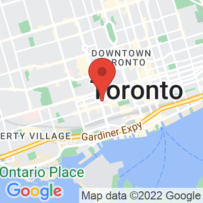 Map showing Strange Love Coffee (Spadina)