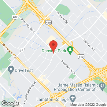 Map of Tim Hortons at 475 Courtney Park Dr E, Mississauga, ON L5T 2S5