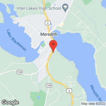 Map of Lovering Volvo Cars Meredith at 251 Daniel Webster Highway, Meredith, NH 03253