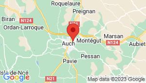Carte de localisation du centre de contrôle technique AUCH