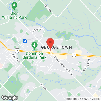Map of Tim Hortons at 11 Mountainview Rd N, Georgetown, ON L7G 4T3