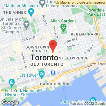 Map of American Eagle Outfitters at 218 Yonge Street, Toronto, ON M5B2H6