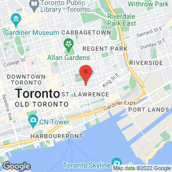 Map of Tim Hortons at 323 Richmond St, Toronto, ON M5A 4R3